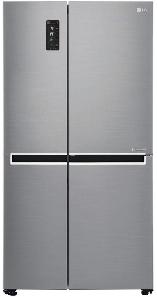 LG 687 Litre Side by Side Refrigerator - Shiny Steel