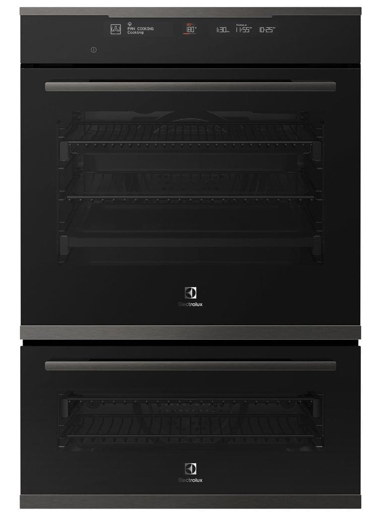 Electrolux 60cm Double Oven 12/6 Functions+Steam Dark S/S