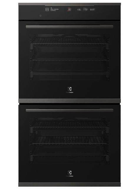 Electrolux 60cm Double Oven 12/12 Functions+Steam Dark S/S