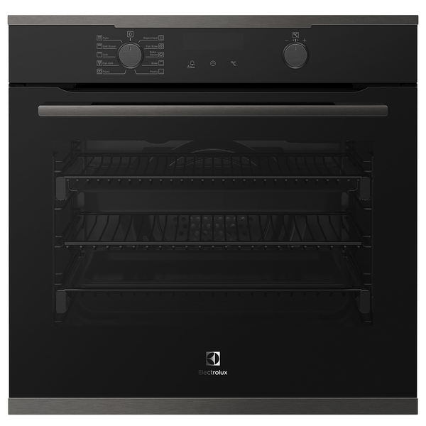 Electrolux 60cm Pyrolytic Oven 10 Functions + Steam Dark S/S