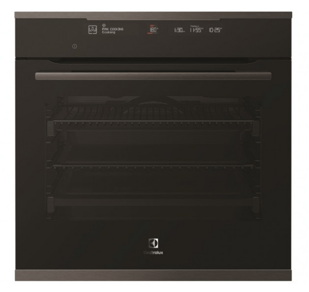 Electrolux 60cm Pyrolytic Oven 13 Functions+Steam Dark S/S