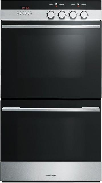 Fisher &Paykel 60cm Fan Forced Double Oven Cat. Liners 7 Function