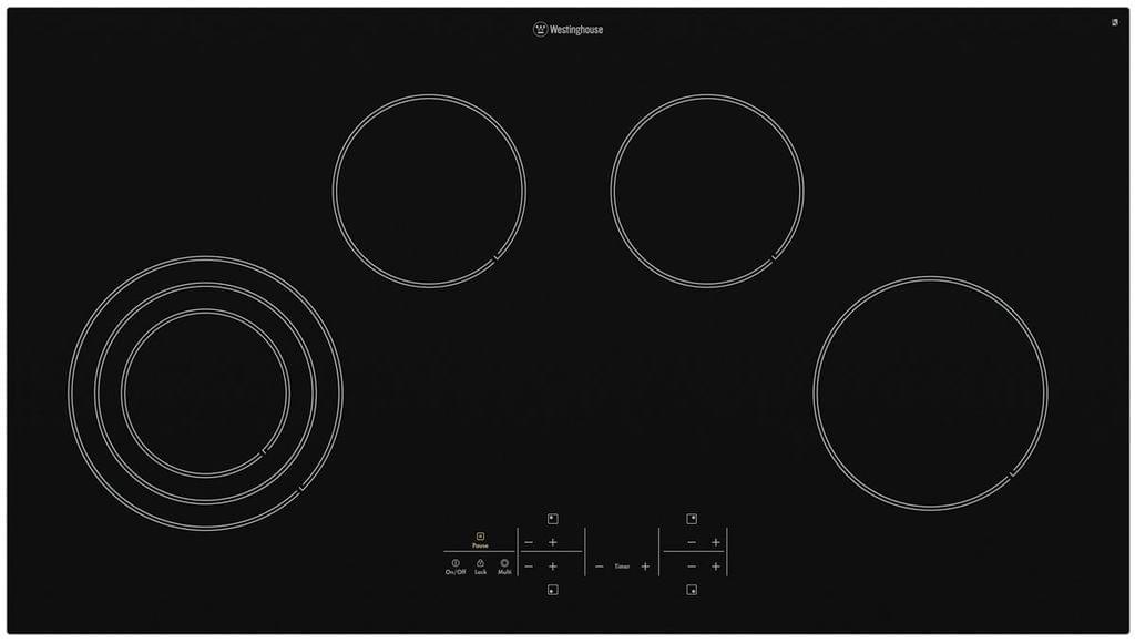Westinghouse 90cm Ceramic Cooktop 4 Element Touch Control