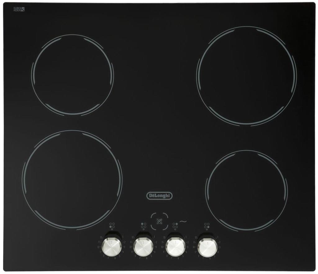 DeLonghi 60cm Ceramic Cooktop with knobs