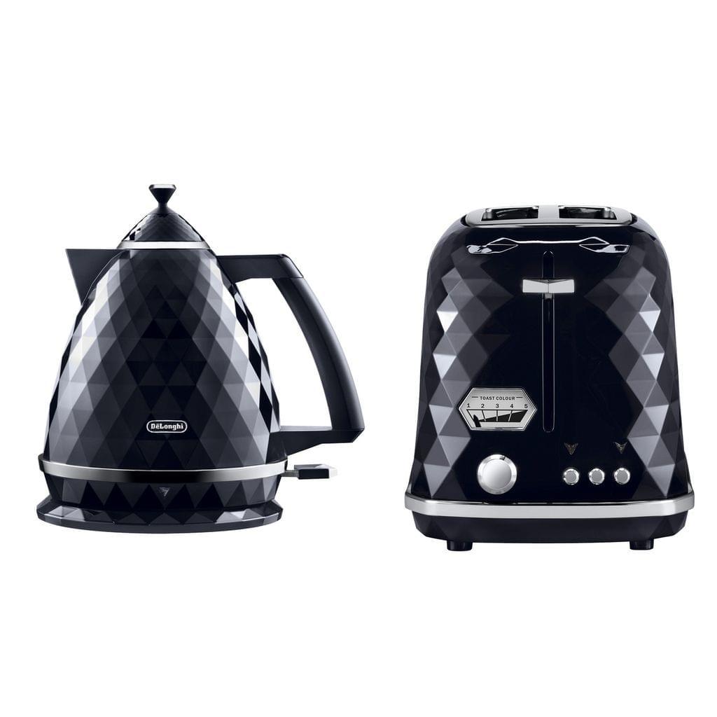 Brillante 1.7 Litre Kettle & 2 Slice Toaster Pack - Black