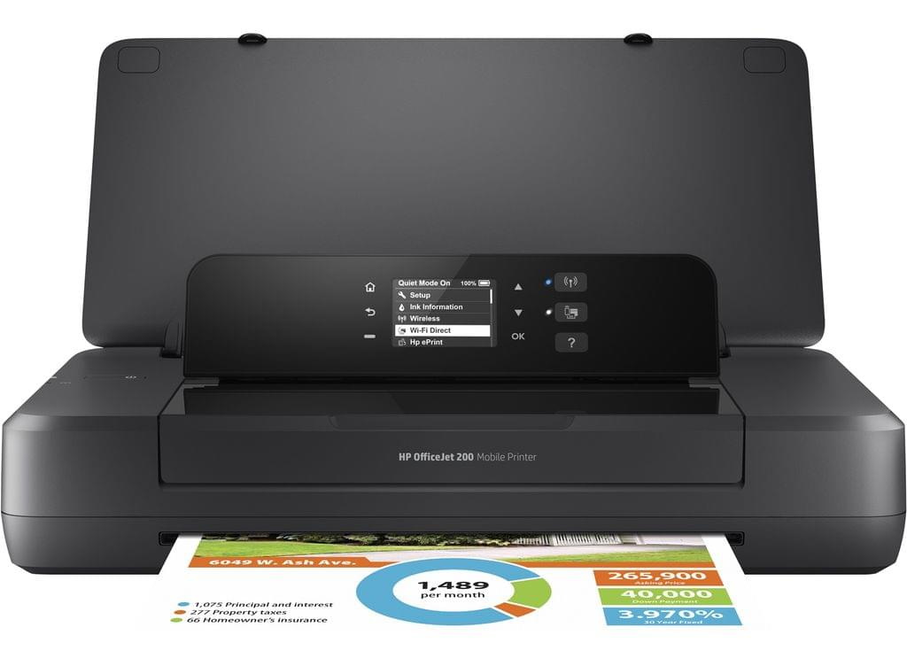 HP OFFICEJET 200 MOBILE PRINTER A4 10 7PPM DC 500 RMPV 300 USB WIFI EPRINT 50 SHEET INPUT