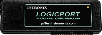 34 CHANNEL LA1034 LOGICPORT LOGIC ANALYZER