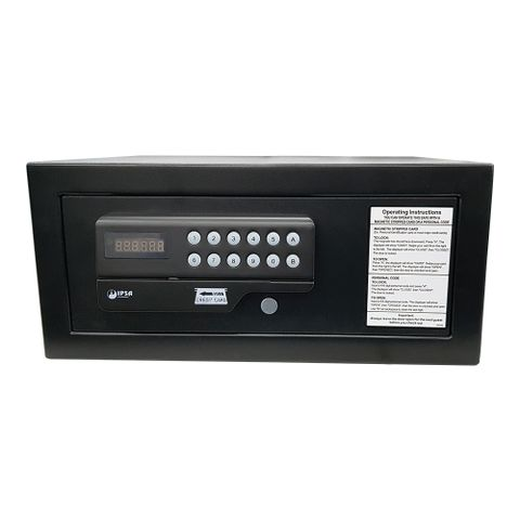 IPSA ES03 Digital Safes, Hotel Safes With Motorized Locking (Black)