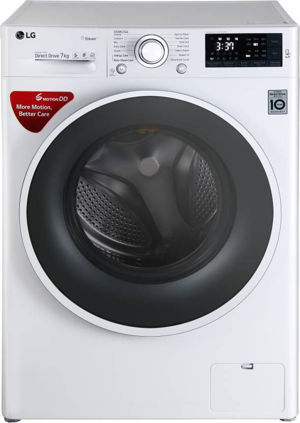 LG 7 kg Fully Automatic Front Load Washing Machine with Wifi White  (FHT1207SWW)