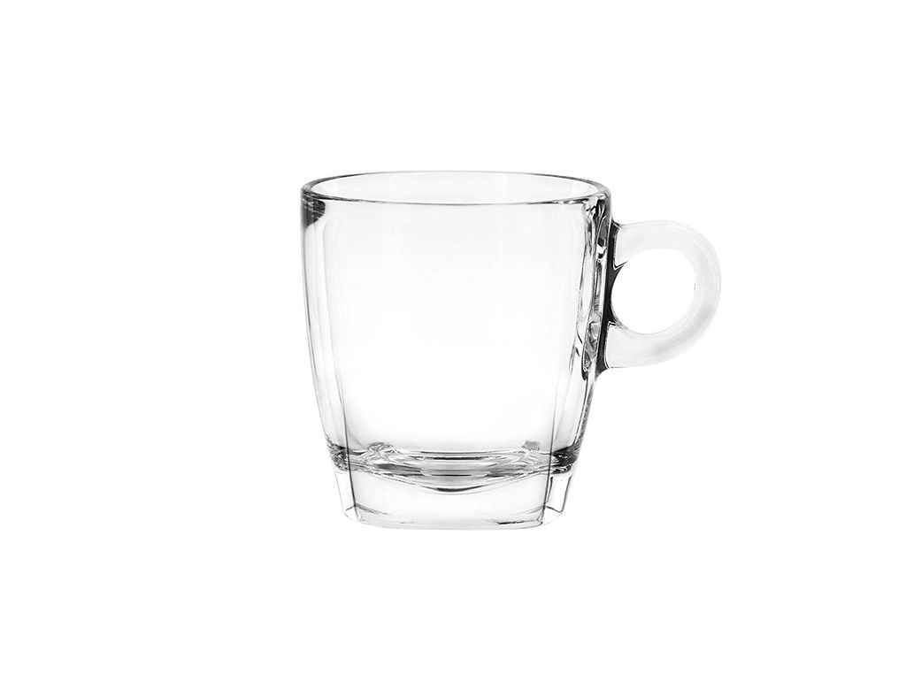 Ocean Caffe Cappuccino Glass Set, 210 ml, Set of 6, Transparent