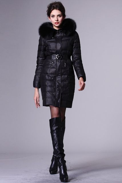 Black knee-length jacket dress