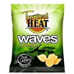 Tropical Heat Chilli & Lemon Waves Crisps 125g