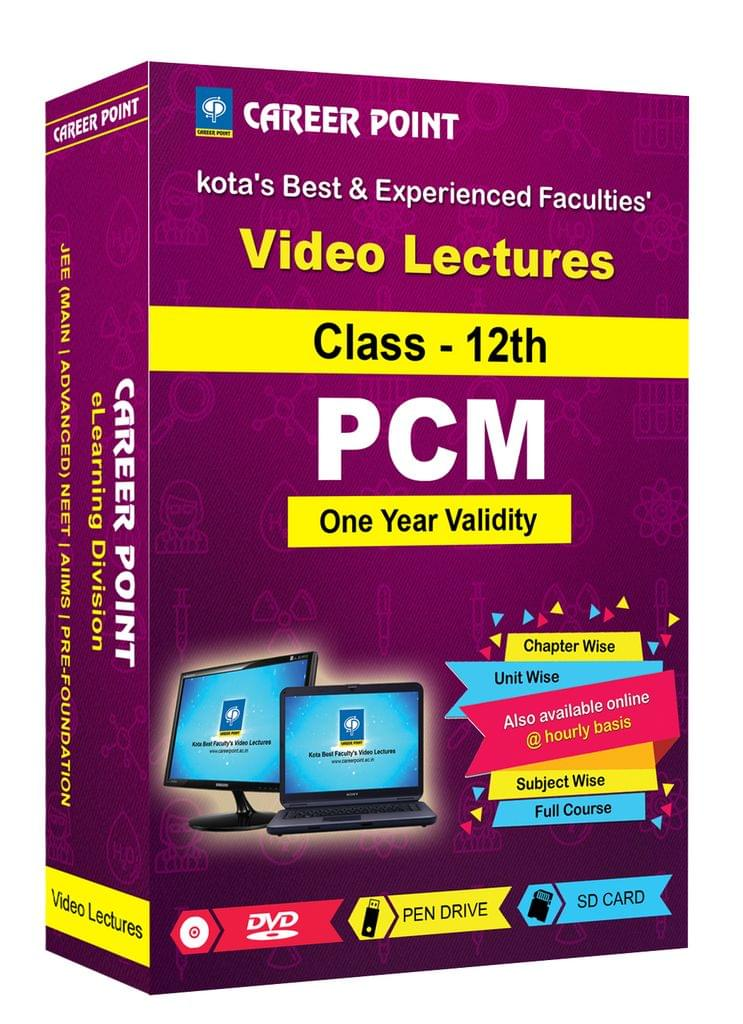 Video Lectures for JEE Mains & Adv | PCM (Class 12th) | Validity 1 Yr | Medium : Mixed Language (E & H)