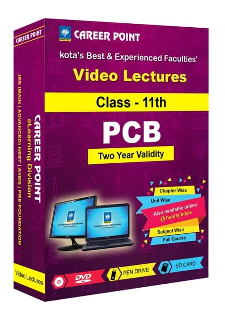 Video Lectures for NEET & AIIMS | PCB (Class 11th) | Validity 2 Yrs | Medium : Mixed Language(E & H)