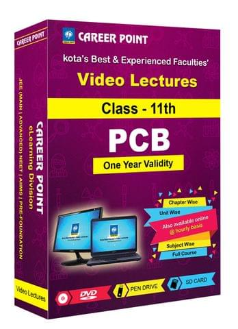 Video Lectures for NEET & AIIMS | PCB (Class 11th) | Validity 1 Yr | Medium : Mixed Language-E/H