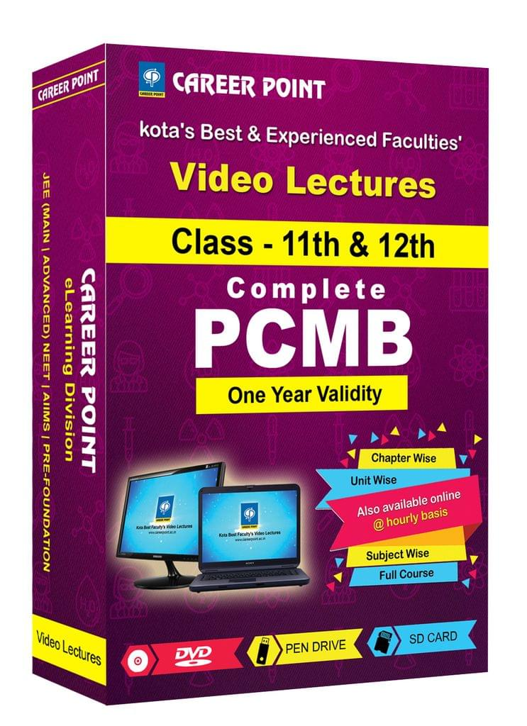 PCMB (11th+12th) for 1 Yr Video Lectures(Mixed Language-E/H)