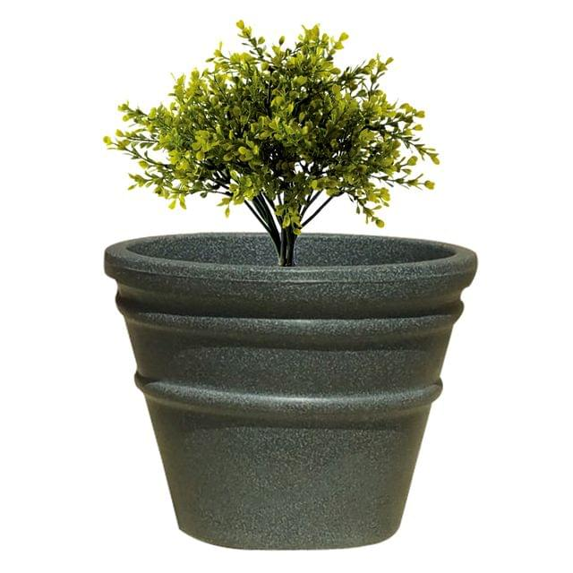 Yuccabe Italia FOX-B BR Grey Round 15 Inches Planter
