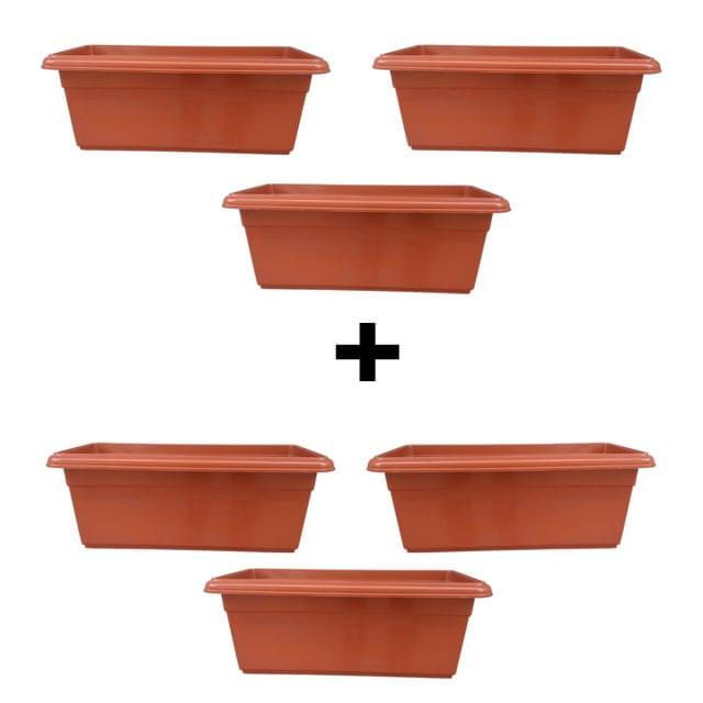 Yuccabe Italia Shera Red 24 inches Tray Planter (Set of 6)