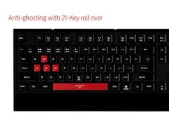 GAMDIAS Hermes Lite Gaming Keyboard (GKB1000RD)