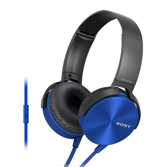 Sony Extra Bass MDR-XB450AP On-Ear Headphones with Mic