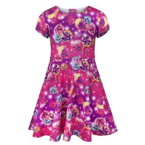 Shopkins Childrens Girls D`Lish Donut Short Sleeved Dress