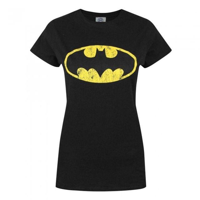 Batman Womens/Ladies Distressed Logo T-Shirt