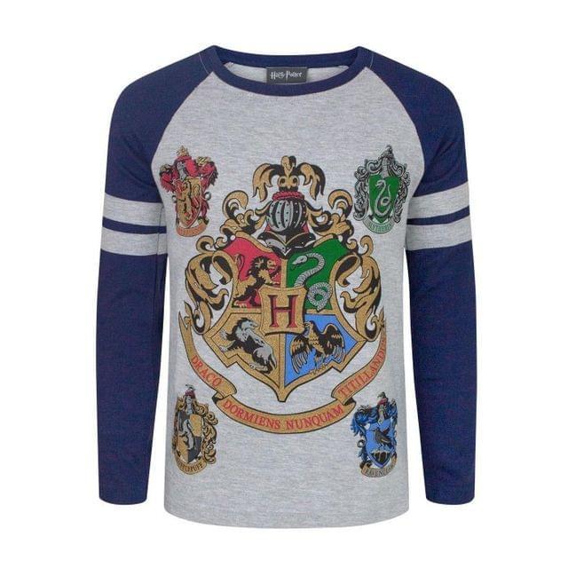 Harry Potter Official Boys Hogwarts Raglan T-Shirt