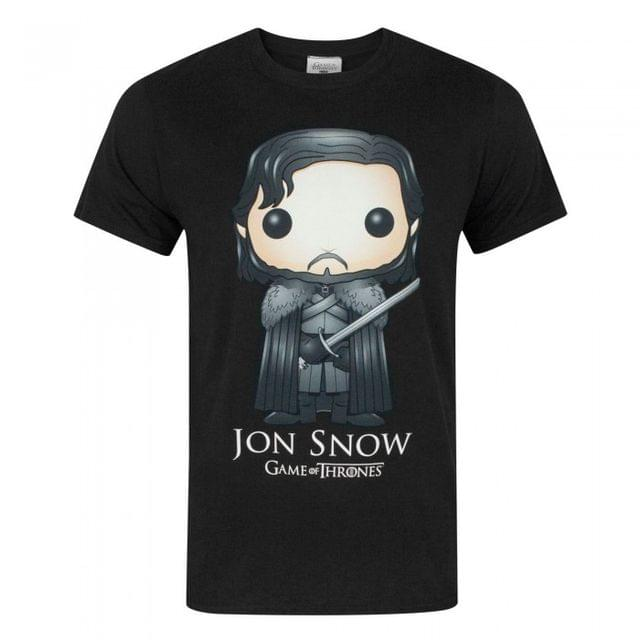 Game Of Thrones Official Mens Funko Jon Snow T-Shirt