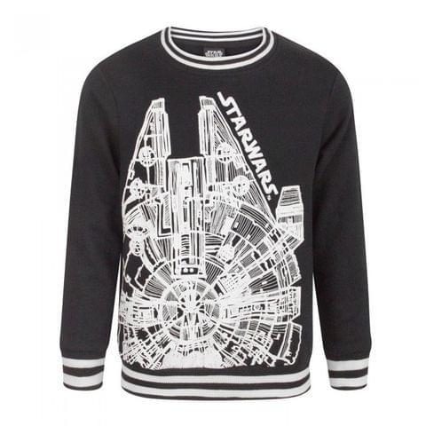 Star Wars Childrens Boys Millennium Falcon Sweatshirt