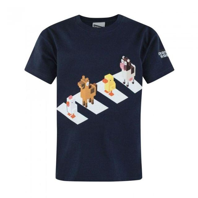 Crossy Road Childrens/Boys Official Character Crossing Design T-Shirt