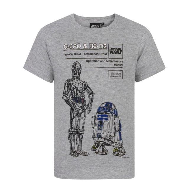 Star Wars Childrens Boys C-3PO And R2-D2 T-Shirt