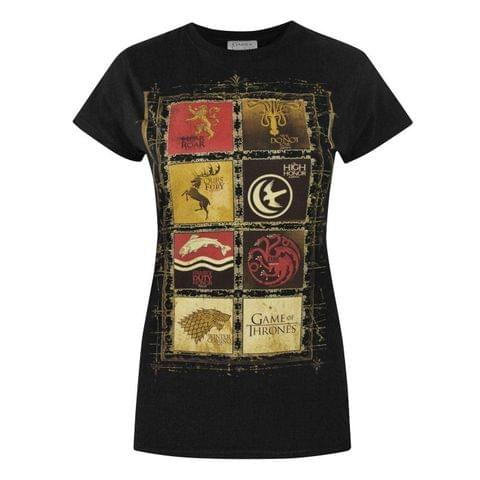 Game Of Thrones Womens/Ladies Block Sigils T-Shirt