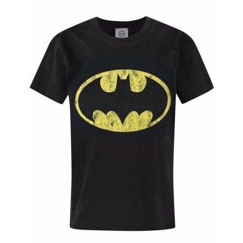 Batman Childrens/Boys Official Distressed Logo T-Shirt