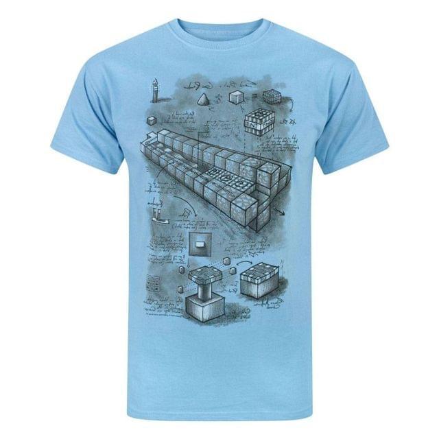 Minecraft Official Mens Blueprint T-Shirt
