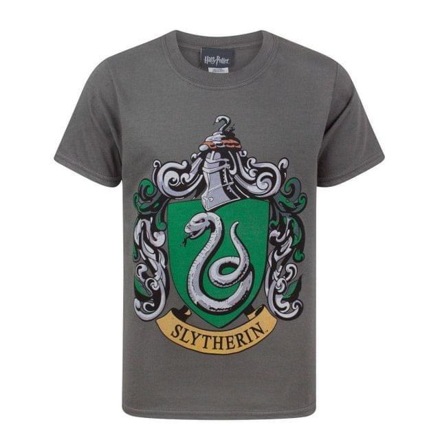 Harry Potter Official Boys Slytherin Crest T-Shirt