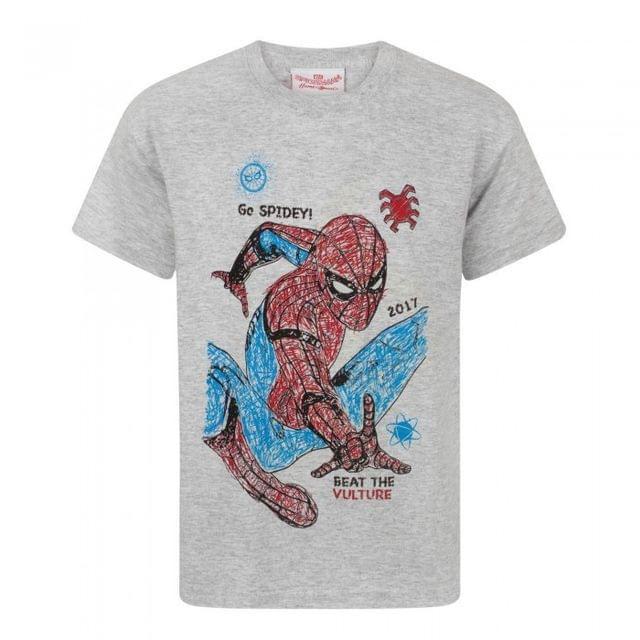 Spider-Man Childrens Boys Homecoming Spidey Sketch T-Shirt