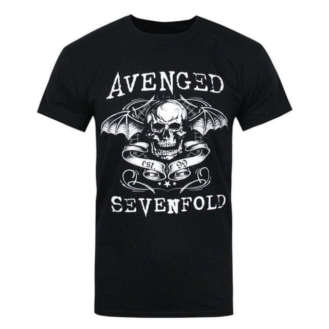 Avenged Sevenfold Official Mens Skull T-Shirt