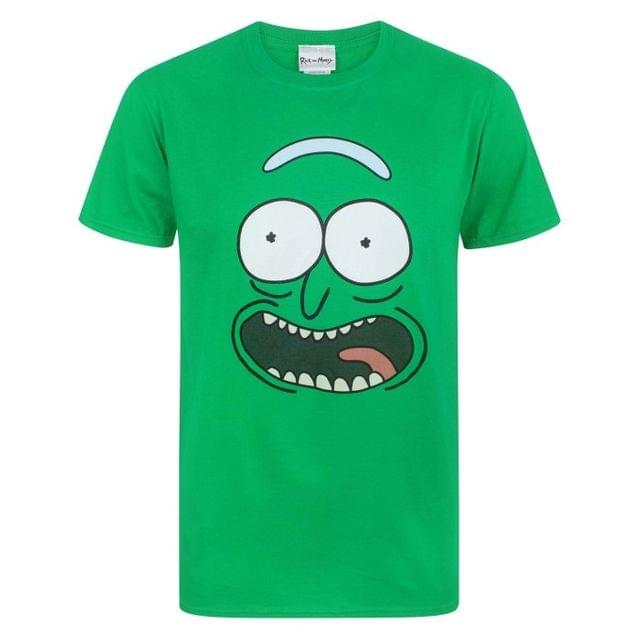 Rick And Morty Mens Pickle Rick Face T-Shirt