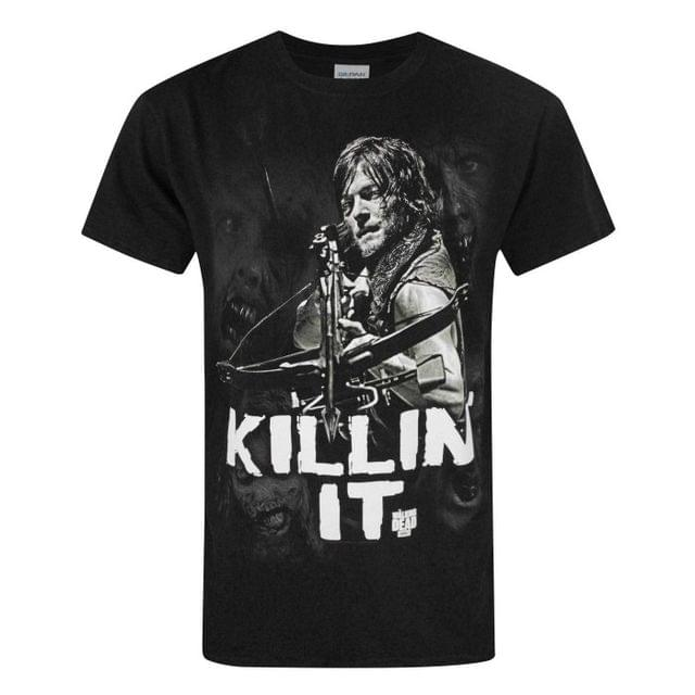 The Walking Dead Official Mens Daryl Killin It T-Shirt