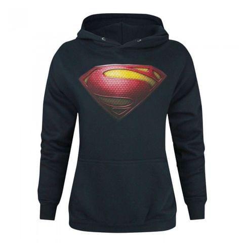 Superman Womens/Ladies Man Of Steel Logo Hoodie