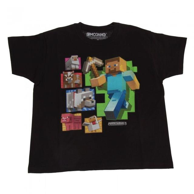 Minecraft Childrens/Kids Steve And Friends T-Shirt