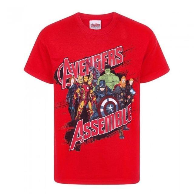 Marvel Official Boys Avengers Assemble T-Shirt
