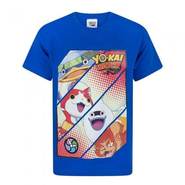 Yo-Kai Watch Childrens/Boys Official Character Panel T-Shirt