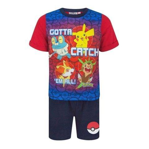 Pokemon Childrens Boys Gotta Catch Em All Short Pyjamas