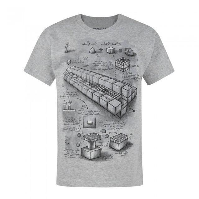 Minecraft Childrens/Boys Official Blueprint Design T-Shirt