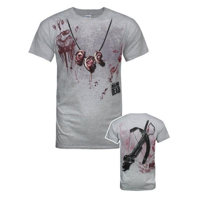 The Walking Dead Official Mens Daryl Dixon Handprint T-Shirt
