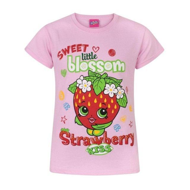 Shopkins Childrens Girls Strawberry Kiss Sweet Blossom T-Shirt