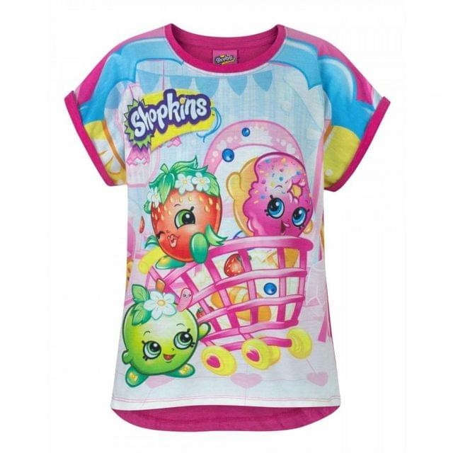 Shopkins Childrens/Girls Official All-Over Character Print T-Shirt