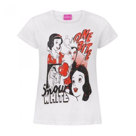 Disney Childrens/Girls Official Snow White One Bite Collage T-Shirt