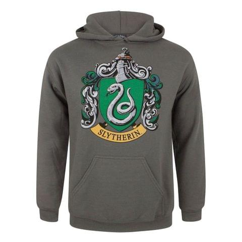 Harry Potter Mens Slytherin Crest Hoodie